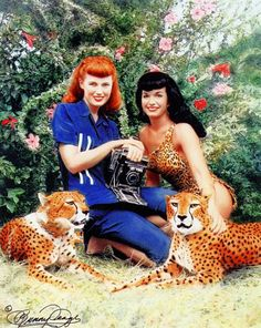 Bunny and Bettie...I love that Bettie's photographer is just as lovely as she is!  Women working together...very nice.