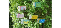 Cartes d'invitation anniversaire au design coloré que pour les enfants, commande possible par mail