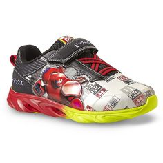 Disney Big Hero 6 Black White Red Sneaker (2 M US Little Kid)