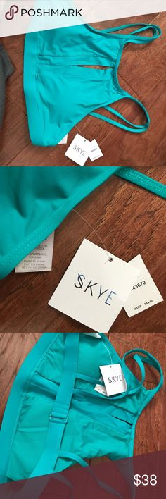 Swim top NEW with tags still on New beautiful color swim top with front peep Cozumel green color CC Skye Swim Bikinis