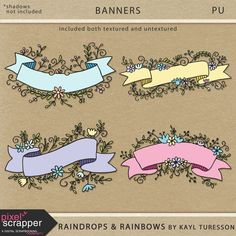 Free Printable Banners from Kayl Turesson {April 2017 Pixel Scrapper Blog Train}
