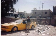 BMW M635csi Gemballa found in Iraq (2003). Presumed to be owned by the eldest son of Saddam Hussein