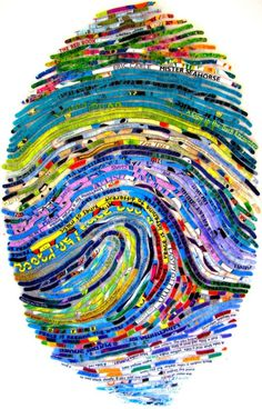 Kid's Personalized Thumbprint Portrait by cherylsorg on Etsy, $1200.00