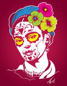 Catrida... A tribut for  Frida and Mexican culture by Carlos Sánchez Mejía, via Behance