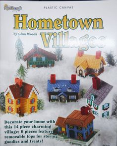 HOMETOWN VILLIAGES Plastic Canvas Pattern Book NEW. $4.95, via Etsy.