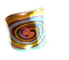 Artisan Fused Art Glass finger ring   size 6 #Unbranded #Rings