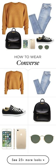 """#77"" by luluuuuuuuuuu on Polyvore featuring Converse and Ray-Ban"