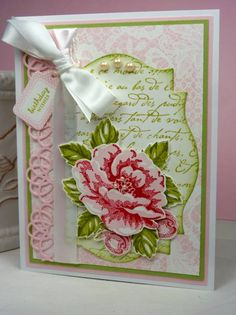 IMPRESSION OBSESSION INC Cover-A-Card Rose Lace PAPERTREY INK Filigree Border/Mixed Messages/Tiny Tags SPELLBINDERS Nestabilities Labels 18 STAMPIN' UP! En Francais/Stippled Blossoms