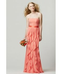 Long ruffled dress
