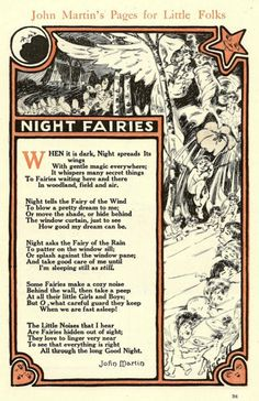Night Fairies poem by John Martin 1900 or so