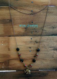 Elephant Necklace by aryacreates on Etsy, $35.00