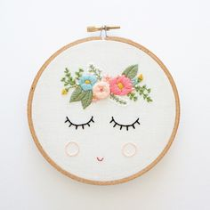 POSY Embroidery Pattern Digital Download por ThreadFolk en Etsy