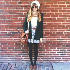 Supercute for colder weather! Pretty Outfits, Beautiful Outfits, Cool Outfits, Beautiful Clothes, Indie Fashion, Fashion Hair, What Should I Wear Today, Vintage Inspired Fashion, Cold Weather Fashion