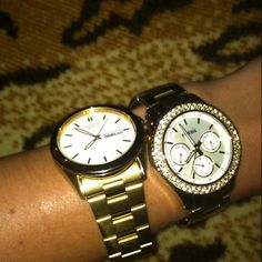 I have an obsession with watches.. love these<3