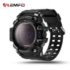 40ca95337 LEMFO Smart Watch Bluetooth Digital LED Smartwatch Waterproof SMS Notifier  Pedometer (Black) Specs   Details   Screen type  FSTN LCD full viewing  screen ...