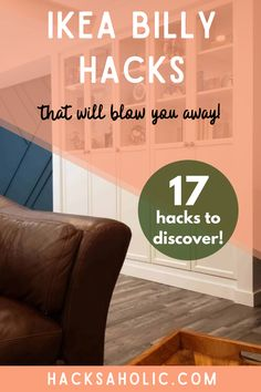 The Ikea Billy bookcase is an iconic piece of furniture. These Ikea Billy hacks make the most of it by turning it into something incredible! #ikeabillyhacks #billybookcase #ikeahack Ikea Billy Hack, Ikea Billy Bookcase Hack, Ikea Furniture Hacks, Ikea Hacks, Mobile Craft, Library Ladder, Bookcase Door, Best Ikea, French Country Style