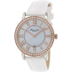 Kenneth Cole Women's Classic KC2836 White Leather Quartz Watch
