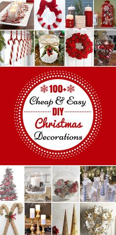 100 cheap easy diy christmas decorations