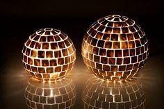 Ultra Chic Gold Square Capiz Globe Lamps