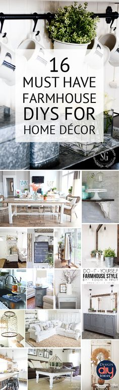 Farmhouse decor can