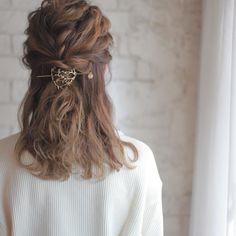 Curled Hairstyles, Pretty Hairstyles, Dyed Hair, Hair Pins, Locks, Curls, Facial, Hair Makeup, Braids