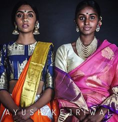 Models - Kanjiveram Saree by Ayush Kejriwal Simple Sarees, Trendy Sarees, Indian Bridal Wear, Indian Wear, Indian Dresses, Indian Outfits, Indian Clothes, India Fashion, Ethnic Fashion