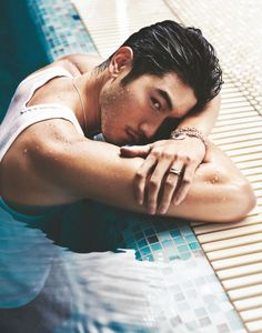 Godfrey Gao aka Magnus Bane one of THE coolest characters in Cassandra Clare's series Infernal Devices and Mortal Instruments...I can't waaait for the movie to come out