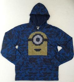 Boys Despicable Me Minions Blue/ Black Pullover Hoodie Jacket Size XLarge 18   Clothing, Shoes & Accessories, Kids' Clothing, Shoes & Accs, Boys' Clothing (Sizes 4 & Up)   eBay!