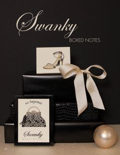 Lifestyle shot of our Swanky Boxed Notes…Our Swanky Boxed Notes are offered hand-embellished with Swarovski crystals or non-embellished…