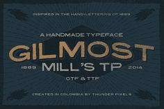 Gilmost Mill's TP by ThunderPixels Store on @creativemarket