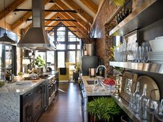 - Kitchen Pictures From HGTV Dream Home 2014 on HGTV love the stainless shelves