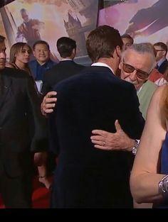 Benedict and Stan Lee, Doctor Strange premiere.
