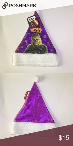 Star Wars Holiday Christmas hat  -featuring Chewbacca -brand new with the tag still on it Star Wars Accessories Hats