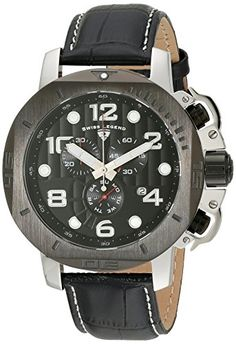 Men's Wrist Watches - Swiss Legend Mens 1053701BB Scubador Analog Display Swiss Quartz Black Watch >>> Check out this great product.