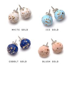 These cute and colourful earrings are individually handmade using polymer clay, glued onto a sterling silver post. They measure approximately 1cm i...  handmadebeadpostearrings