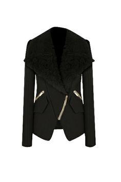 Winter New Short Fur Collar Woolen Overcoat,Cheap in Wendybox.com