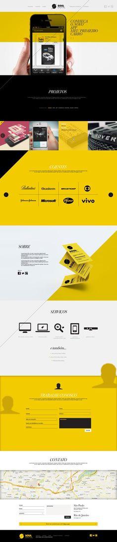Soul Digital by Isabela Rodrigues, via Behance web design Layout Design, Site Web Design, Web Design Mobile, Creative Web Design, Web Layout, Ux Design, Brand Design, Wireframe, Ecommerce