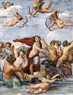 Raffaello Sanzio: il Trionfo di Galatea, 1512 circa, Villa Farnesina, Roma.