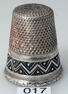 Antique Sterling Silver Thimble with Beautiful Detailed Design Size 6 | eBay