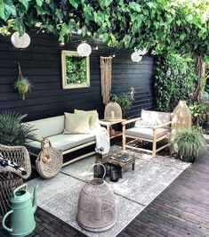 Gorgeous Small Patio Design Ideas You Must Have - Just because you have a small amount of space for small patio landscaping does not mean that you cannot create a stylish and relaxing patio. Decor, Balcony Decor, House Styles, Small Patio Design, Home, Interior, Relaxing Patio, Patio Inspiration, Outdoor Decor