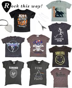 Kids Band T-shirts on minor de:tales