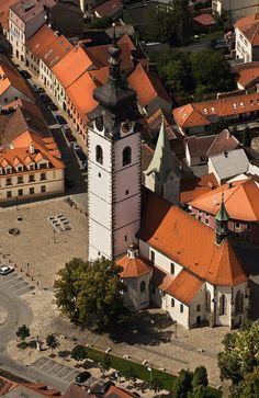 Church of the Assumpition of Virgin Mary in Písek, Czechia #czechia…