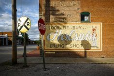 Hand painted sign in downtown Blackwater in Cooper County Missouri by Notley Hawkins Photography. Taken with a Canon EOS 5D Mark III camera with a EF16-35mm f/4L IS USM lens at f.8.0 with a 1/80 second exposure at ISO 100. Processed with Adobe Lightroom 5.7 and DXO OpticsPro 10.  http://www.notleyhawkins.com/