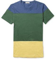 Oliver Spencer Panelled Cotton T-Shirt | MR PORTER