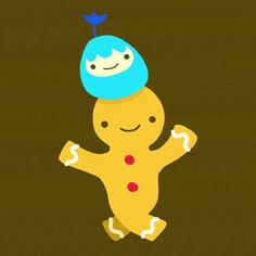 dancing joy cookie cindy suen sugar cookies neonmob gingerbread gingerbread man #gif from #giphy