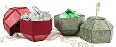 This handy gift box does double-duty: holding treats or gifts and hanging as a decoration on the Christmas Tree!