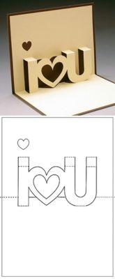 pop up card dieline