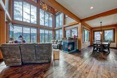 Ski Ridge Timber Frame Design – Streamline Design Wrap Around Deck, Open Concept Kitchen, Home Builders, Great Rooms, Skiing, Loft, Windows, Patio, Frame