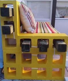 15 Ideas for outdoor patio diy furniture cinder blocks Cinder Block Furniture, Cinder Block Bench, Cinder Block Garden, Cinder Blocks, Diy Patio, Backyard Patio, Diy Outdoor Furniture, Diy Furniture, Patio Ideas