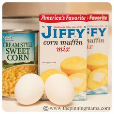 Best Cornbread recipe 2 i did 1 Boxes Jiffy Cornbread 2 Eggs 1 Can Creamed Corn 2 Tbsp Sugar Preheat the oven to 350 Scrape mixture into an sprayed well with cooking spray Bake for minutes or until center is just done df Think Food, I Love Food, Food For Thought, Good Food, Yummy Food, New Recipes, Cooking Recipes, Favorite Recipes, Gourmet